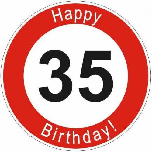 Boldog 35. születésnapot tábla