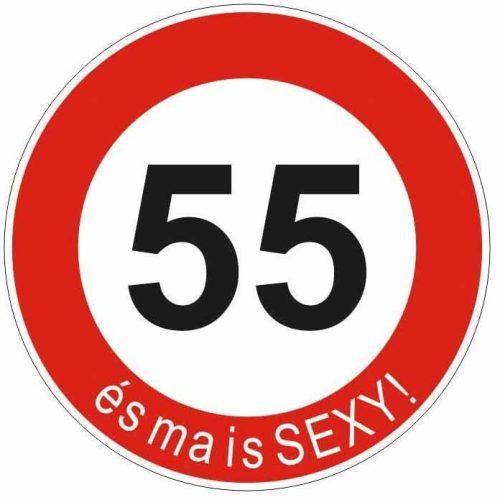 Boldog 55. születésnapot tábla