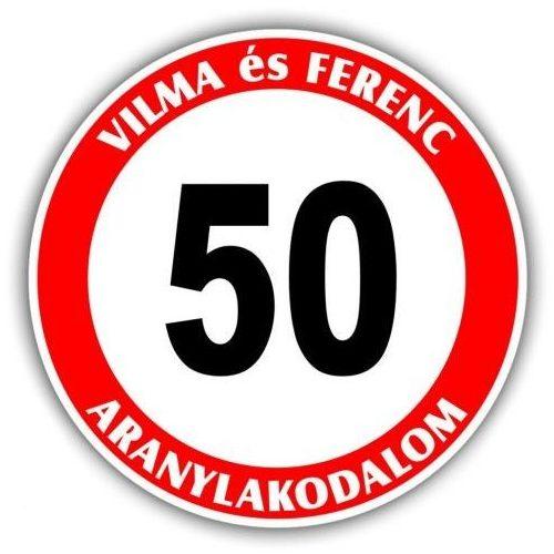 50 Házassági évforduló tábla - névvel kérhető