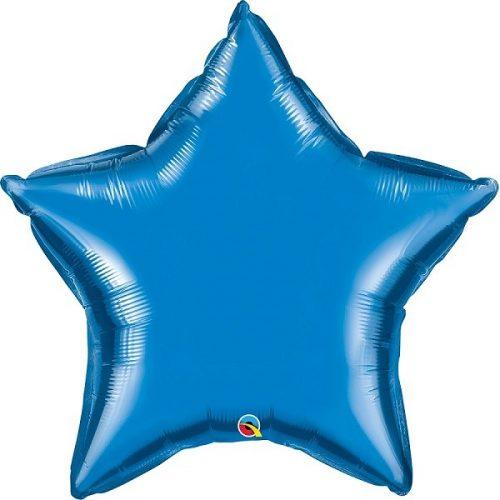 Kék csillag fólia léggömb - 90cm