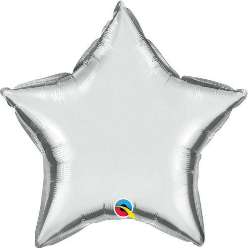 Ezüst csillag fólia léggömb