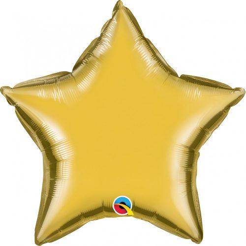 Metál arany csillag fólia léggömb - 90 cm
