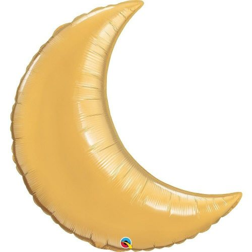 Arany hold fólia léggömb - 90cm