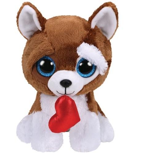 kutya plüss Ty SMOOTCHES  szívvel - 24 cm