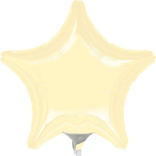 Krém csillag fólia léggömb - 51cm