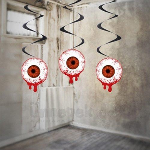 Halloween függődekor - véres szem