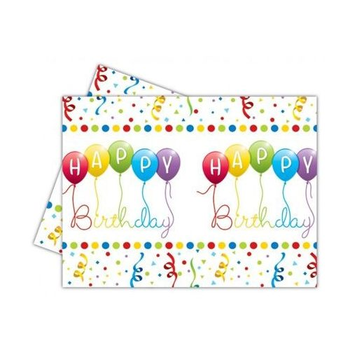 Happy Birthday asztalterítő - lufis