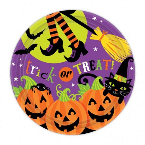 Halloween tányér szett - tökös