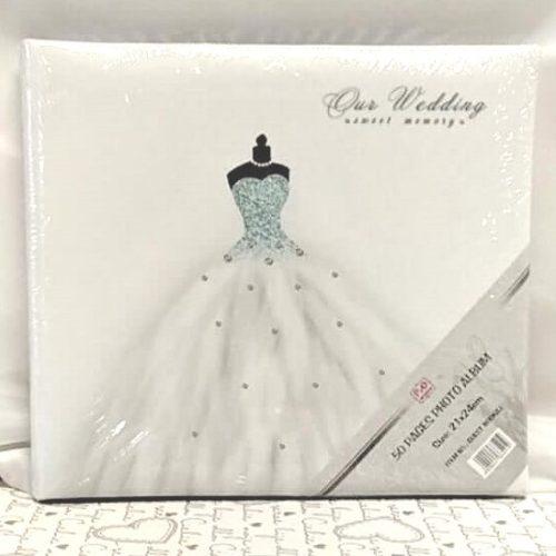 ESKÜVŐI ALBUM menyasszonyi ruhás