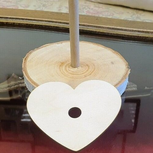 Vendégkönyv spirálos: fakártya szív alakú (10db/cs.)