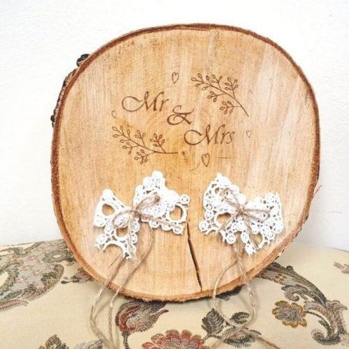 Esküvői gyűrűtartó nagy Mr & Mrs