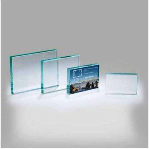Üveg plakett ajándék - díj 8cmx12cm
