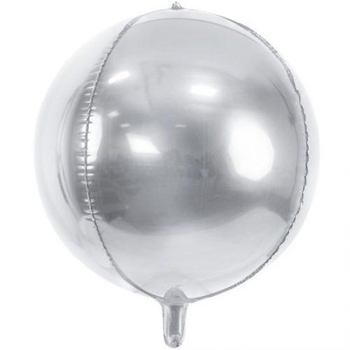 Gömb alakú ezüst fólia - 40cm