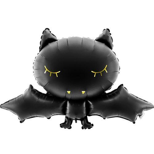 Fekete denevér alakú héliumos lufi