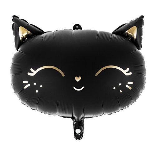 Fekete macska fej alakú héliumos lufi