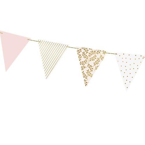 Zászlófüzér - Fehér arany rózsaszín