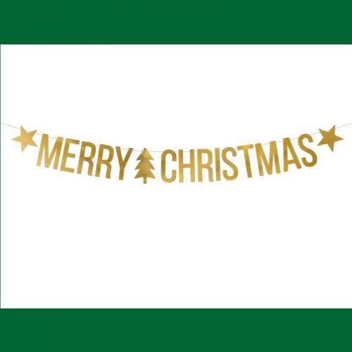 Merry Christmas felirat gold betűkkel