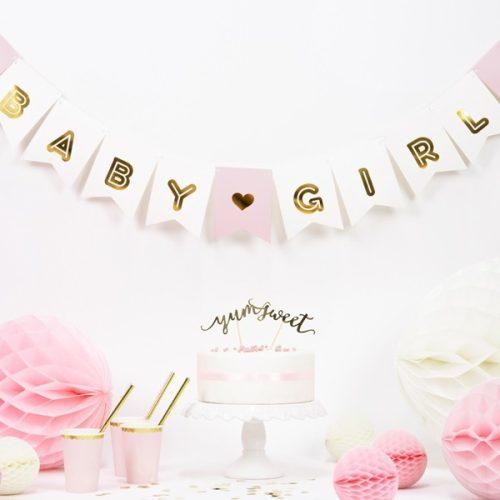 BABY GIRL - zászlófüzér felirat