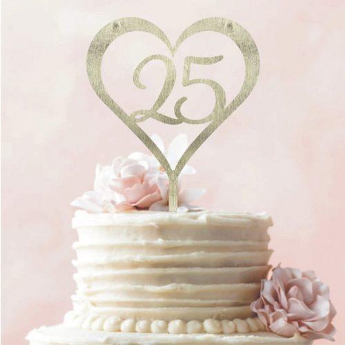 Tortadísz 25. házassági évfordulóra
