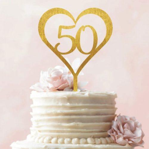 Tortadísz 50. házassági évfordulóra
