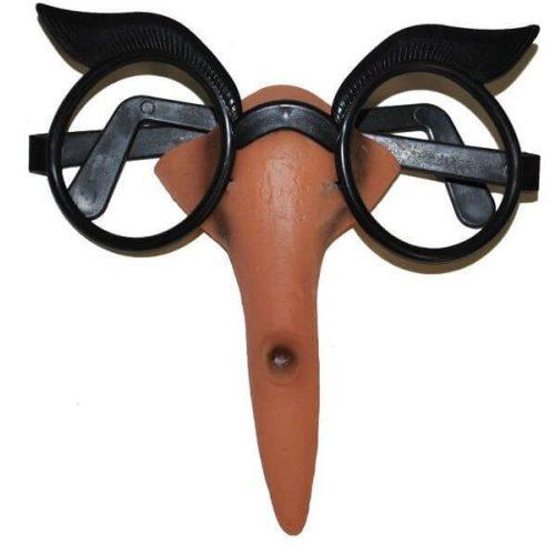 Boszorkány orr + szemüveg