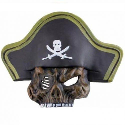 Kalózos maszk - barna koponya
