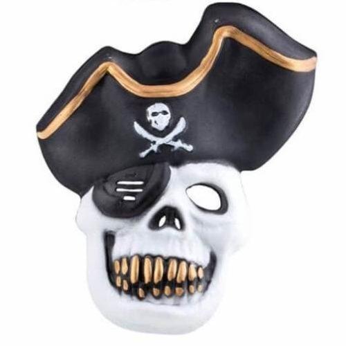 Kalózos maszk - fehér koponya