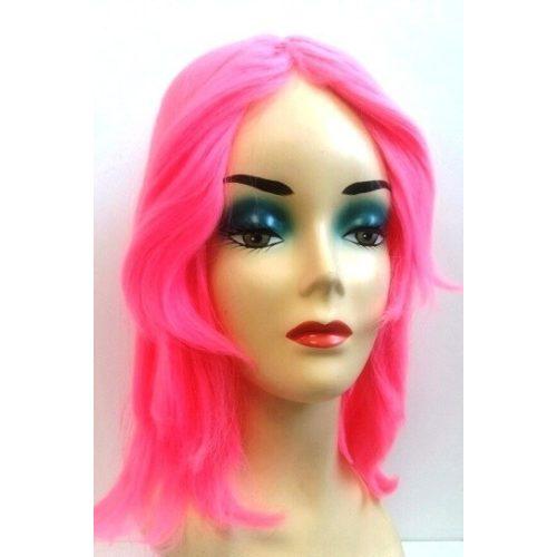 Pink paróka - félhosszú