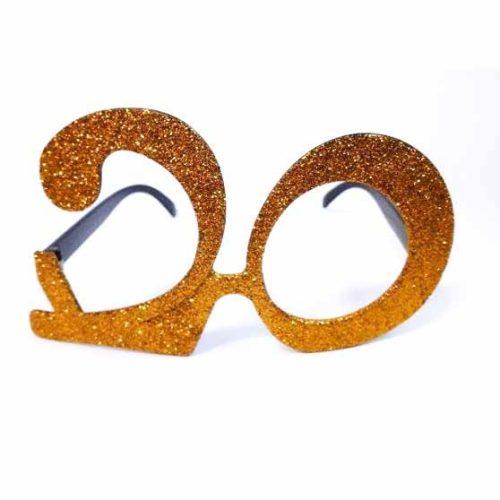 20-as party szemüveg - arany