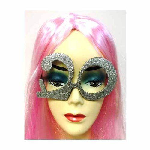 20-as party szemüveg - ezüst