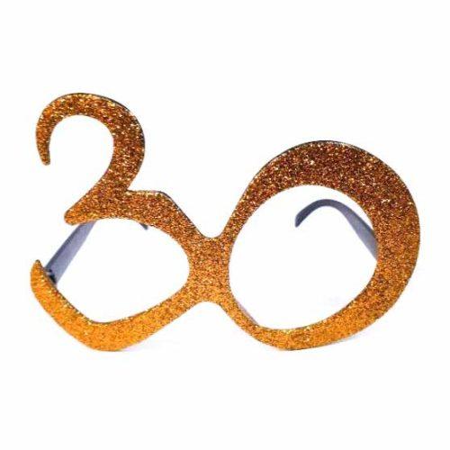 30-as party szemüveg - arany