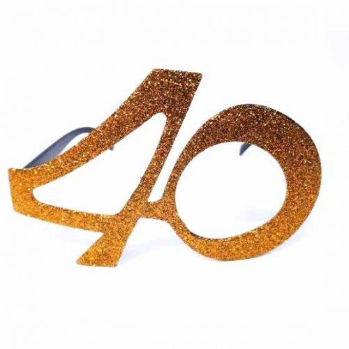 40-es party szemüveg - arany
