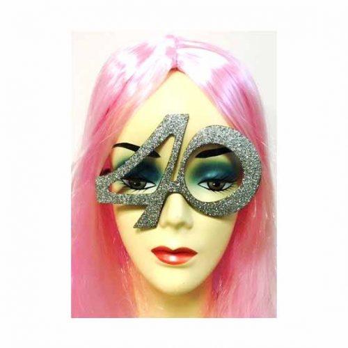 40-es party szemüveg - ezüst