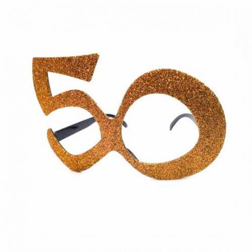 50-es party szemüveg - arany