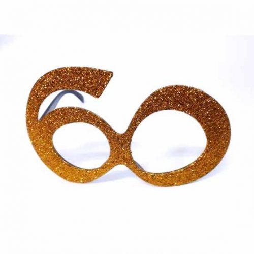 60-as party szemüveg - arany