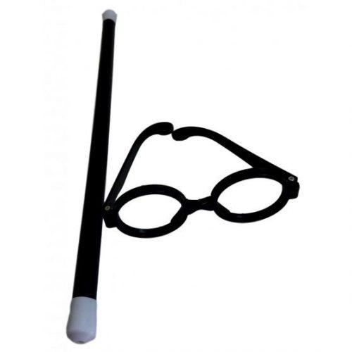 Harry Potter varázsló szemüveg és pálca