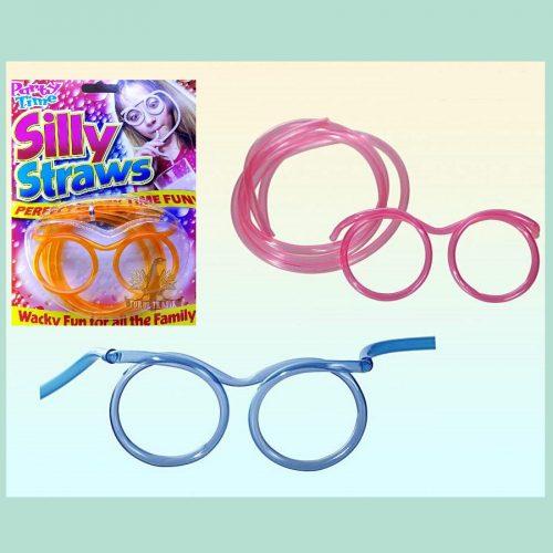Szemüveg alakú party szívószál
