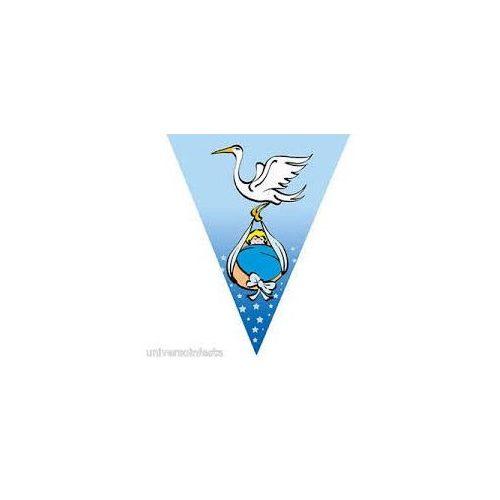 Gólya hozza  - kék zászlófüzér babaszületésre