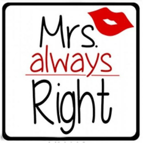 VICCES HUTOMAGNESEK-MRS. ALWAYS RIGHT