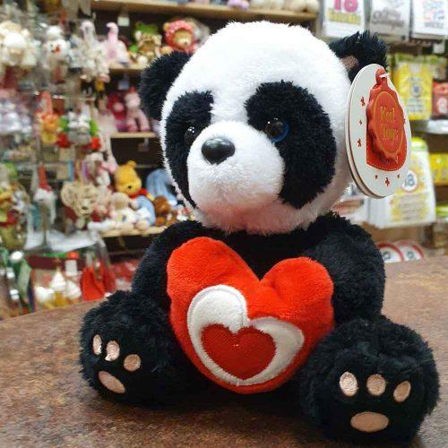 PUHA PLUSS PANDA szívvel