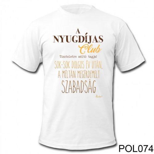Nyugdíjas club... póló