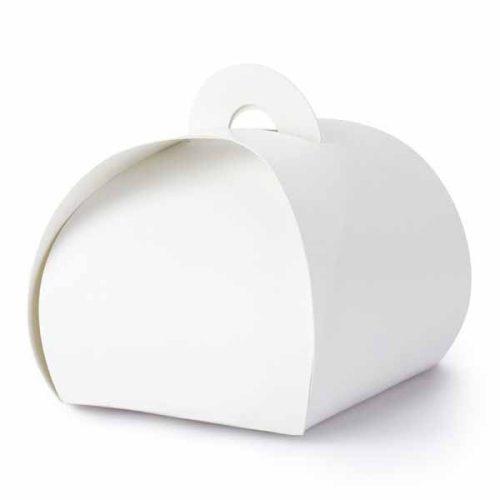Díszdoboz füles fehér  - 6cm