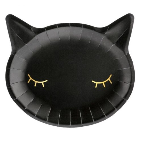 Fekete macska tányér szett
