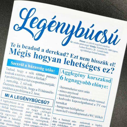 Legénybúcsús újság