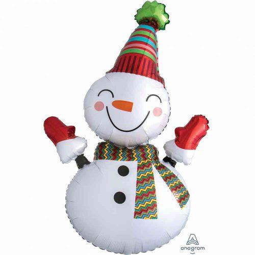 Mosolygó hóember - Smiley snowman fólia léggömb