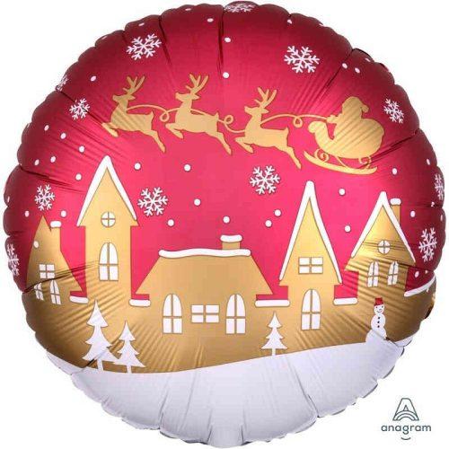 Karácsonyi falu fólia léggömb