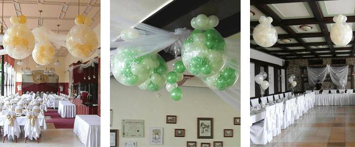 léggömb robbantás esküvői dekorációban